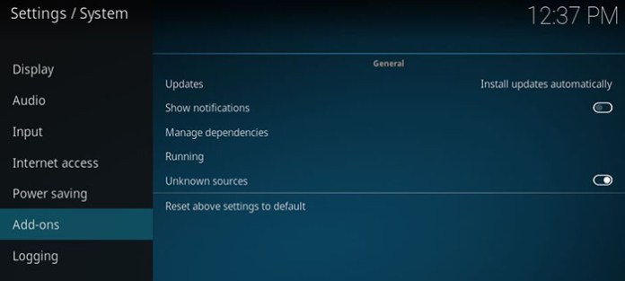 Adult Addons for Kodi - Unknown Sources