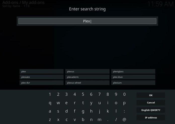 Plex Kodi Addon -Install 3