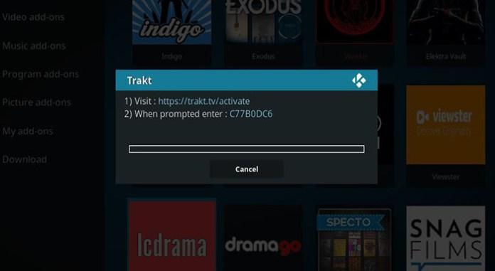 Trakt Kodi Addon - Exodus3