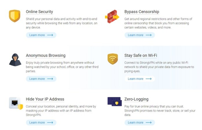 StrongVPN Review 2017 Features