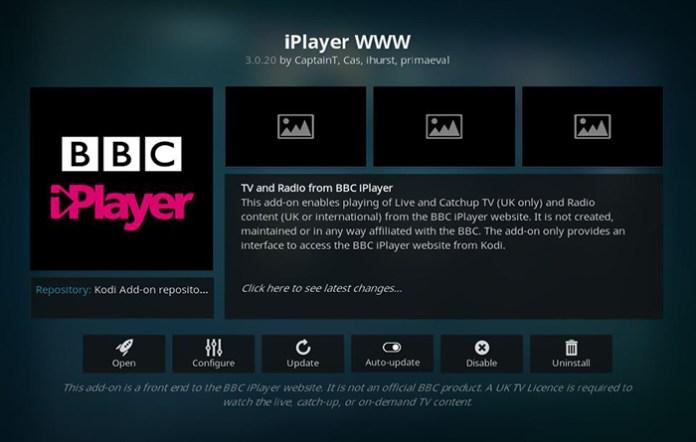 BBC iPlayer WWW Kodi Addon