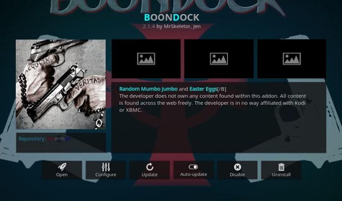 Boondock Kodi Addon