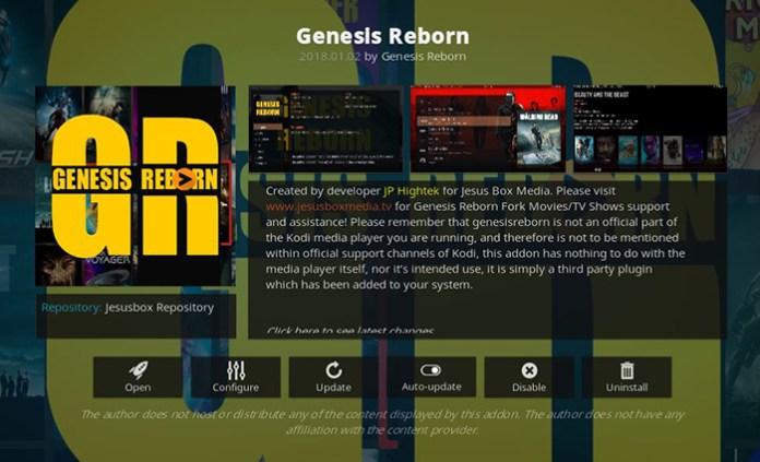 Genesis Reborn Kodi Addon