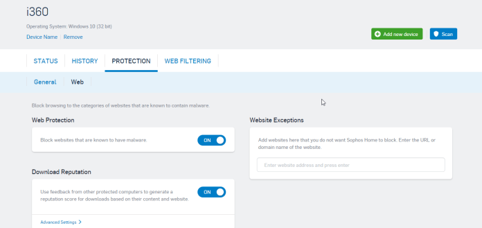 Sophos Home Antivirus Web Protection