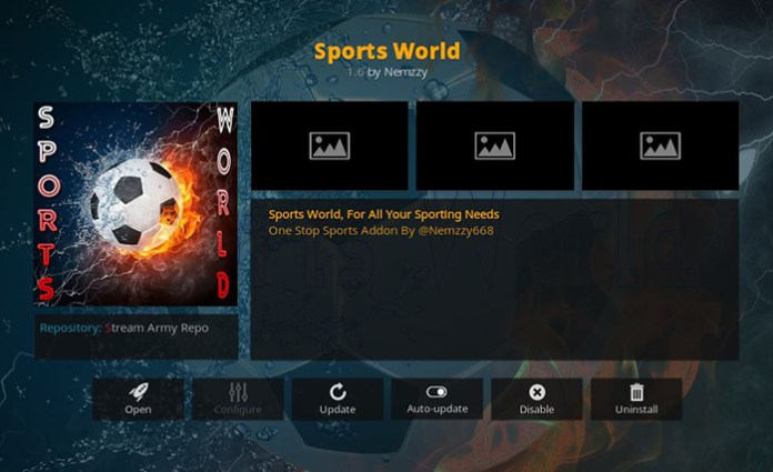 Sports World UFC Addon