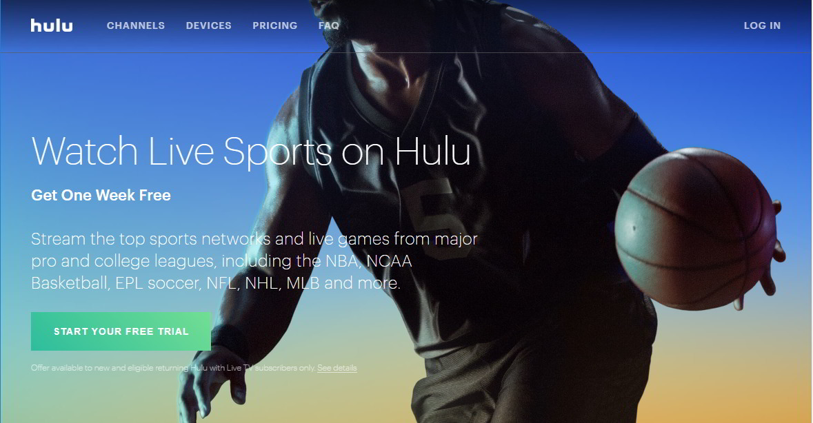 Watch Live Sports on Hulu