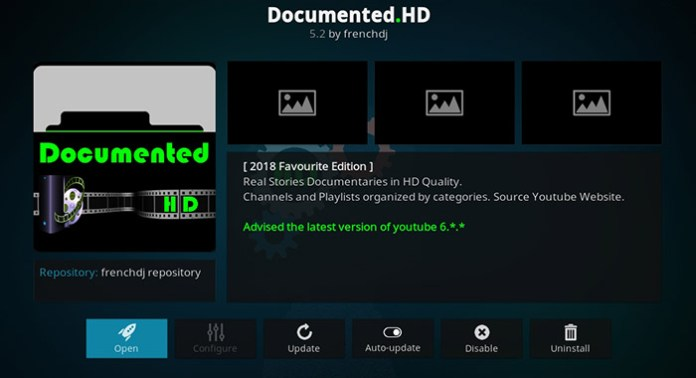 Documented HD Kodi Addon