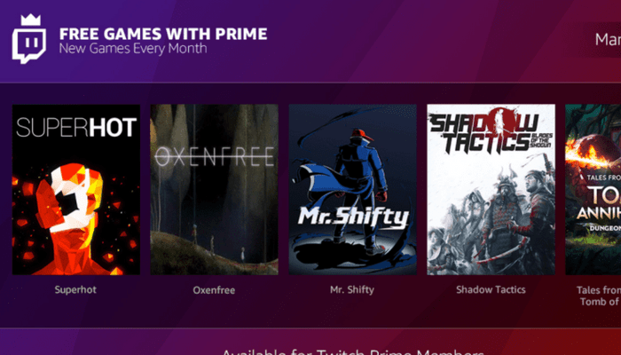 Amazon launches free Games with Prime program for Prime subscribers