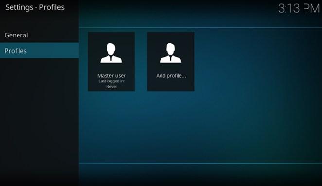How to Setup Kodi Profiles - Add Profile