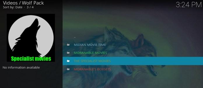 Wolf Pack Kodi Addon - Movies