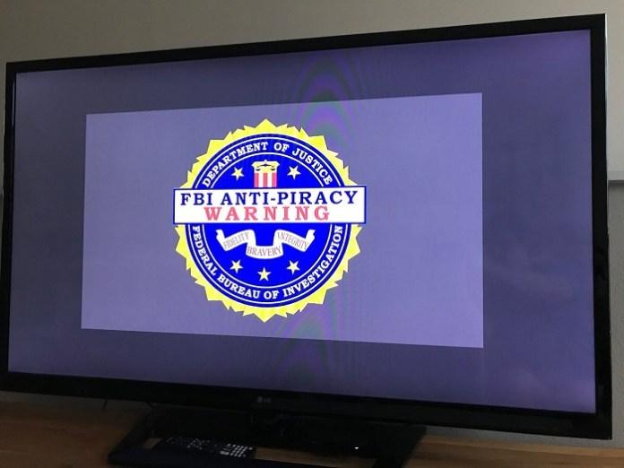 FBI anti-piracy warning message on roku tv