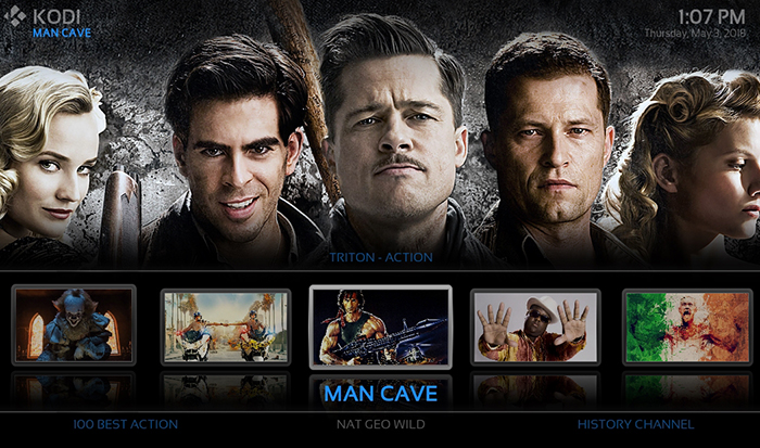 Man Cave Repo : Khaos kodi build the latest offering by misfit mods repo