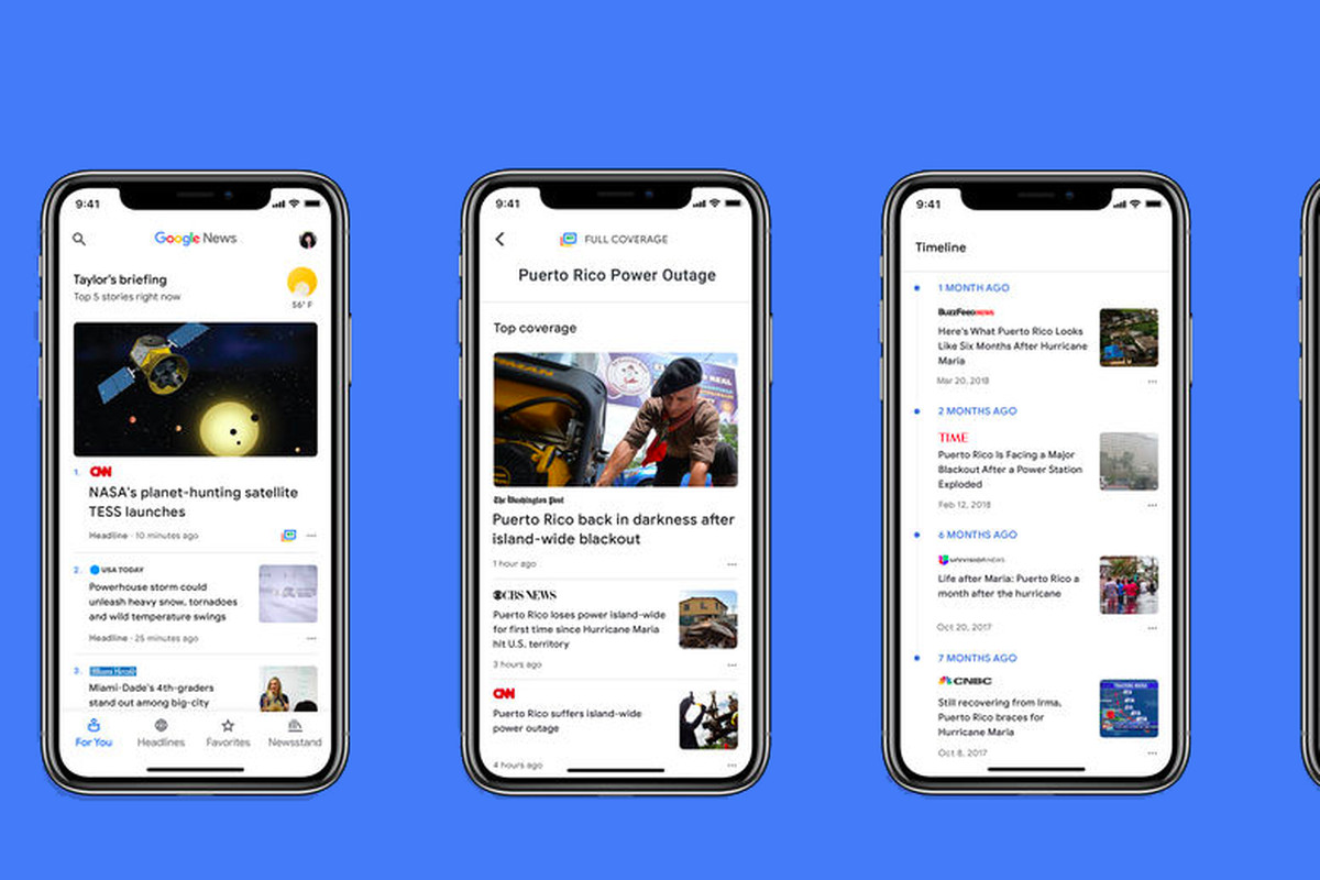 Google News lands on iOS with sleek new interface