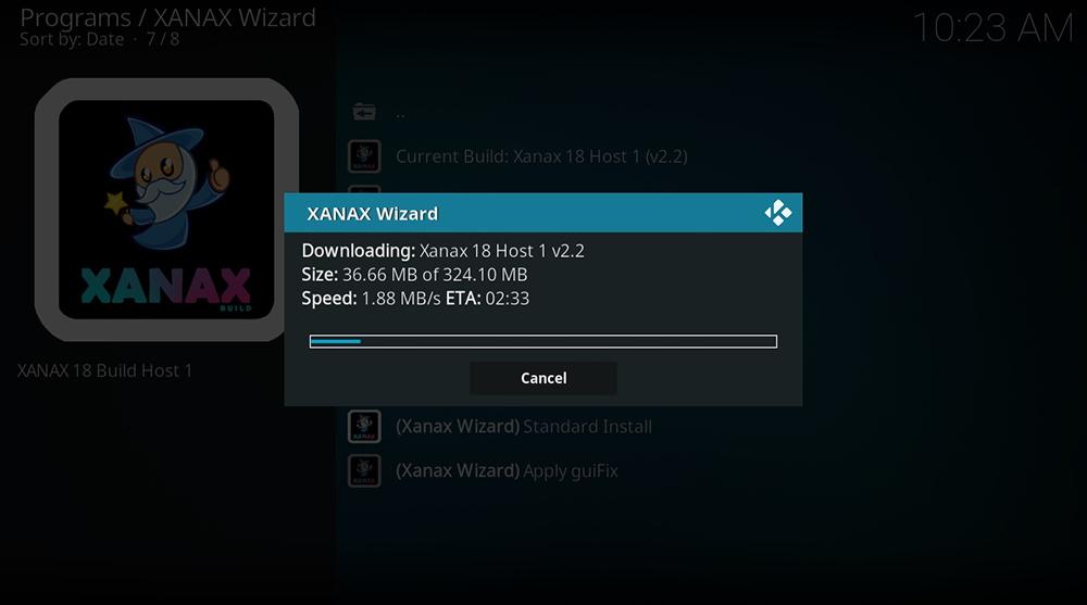Xanax Build Download UI