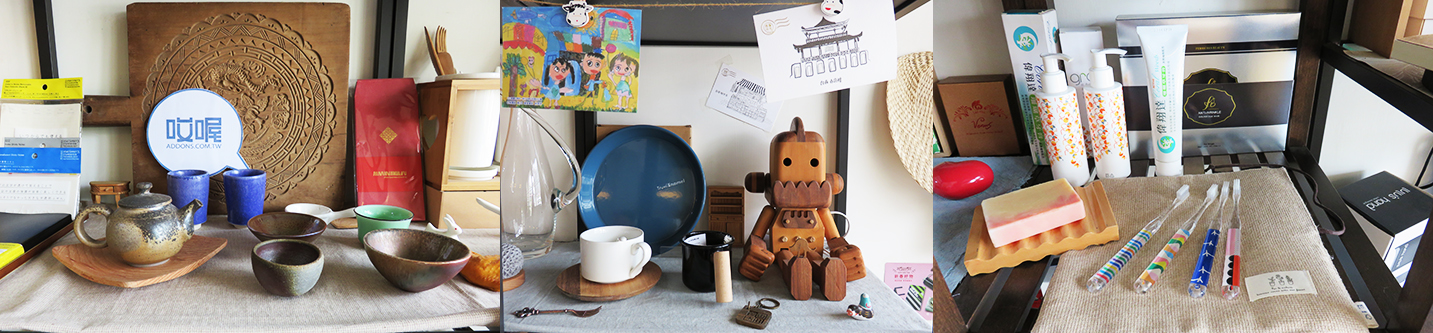 Products on display at Add Ons' office in Tainan. (Image credit: TechNode)