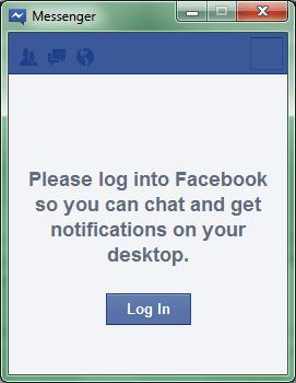Facebook Messenger Login Screen • TechSansar com