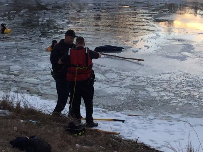 boy pulled from icy pond in parker colorado
