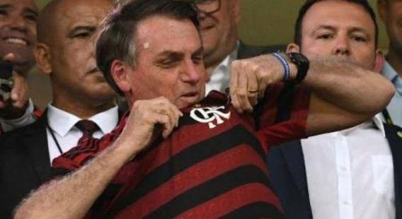 Presidente do Flamengo promete ajudar Bolsonaro com doações e votos em 2022