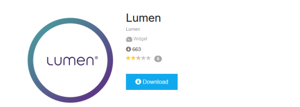 Download the Lumen app in the Connect Store