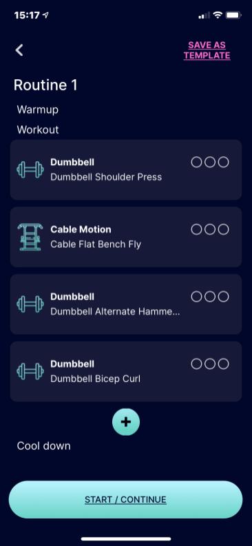 trackbar app define workout