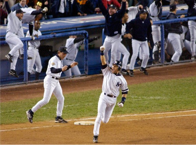 60 Moments: No. 11, Derek Jeter becomes Mr. November and makes New York  sing – The Athletic