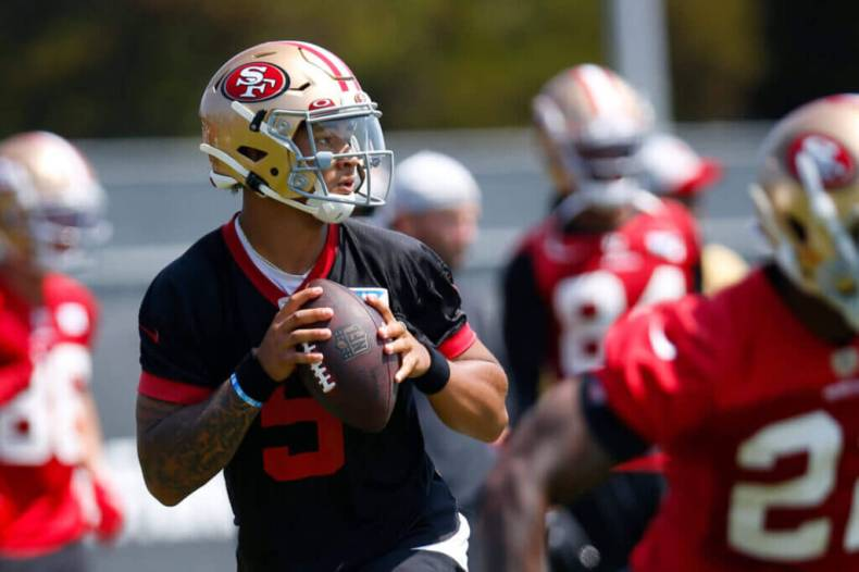 49ers training camp: Ho hum — another one-incompletion outing for Trey Lance  – The Athletic