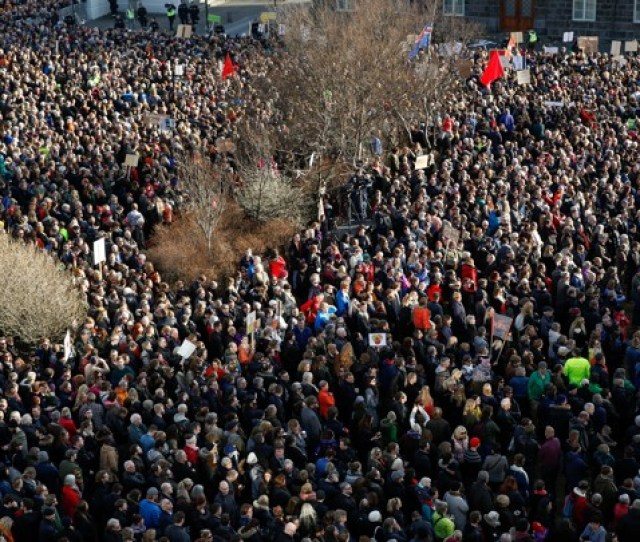 A Protest Against Icelands Prime Minister In Reykjavik On Monday Brynjar Gunnarsson Ap
