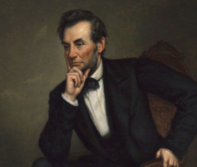 This  Oil Painting Is One Of Four Portraits Of Abraham Lincoln That George Peter Alexander