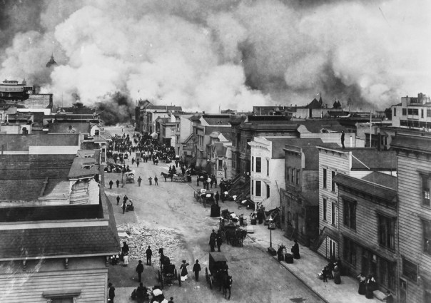 Image result for 1906 – An earthquake and fire destroy much of San Francisco, California.