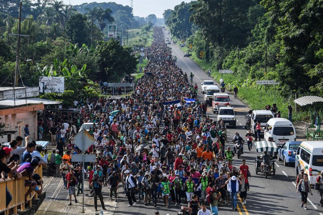 Image result for caravan of immigrants headed to us
