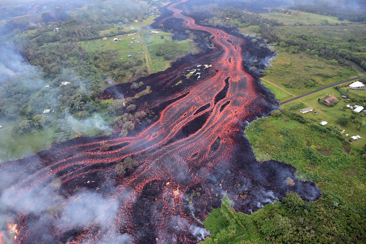 aliran lava gunung api