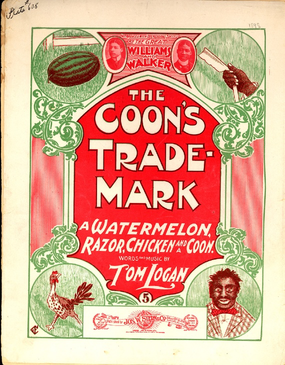 """As mass-produced pianos and sheet music became popular in the late nineteenth century, so did """"coon songs,"""" popular tunes that mocked African Americans for their lazy, shiftless, childish ways. (Courtesy Brown University Library)"""