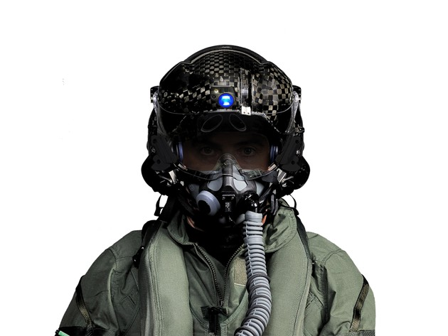 The F-35 Joint Strike Fighter Helmet from Rockwell Collins. Photo courtesy of Rockwell Collins.