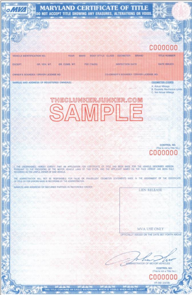 Pay Registration Online Md