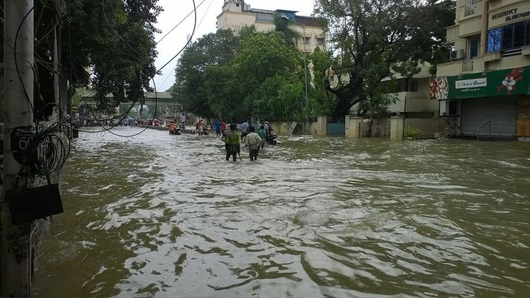 Flood waters in Chennai