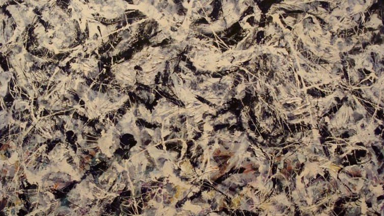'Greyed Rainbow' by Jackson Pollock. Credit: ancientartpodcast/flickr. CC BY