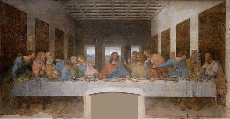 Is there a geometry lesson hidden in 'The Last Supper'?Credit: Wikimedia Commons