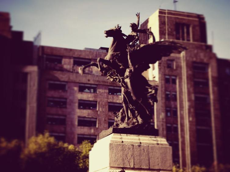 Pegasus statue in front of the Palacio de Bellas Artes, Mexico City. Credit:Alberto Correu/Flickr, CC BY-SA