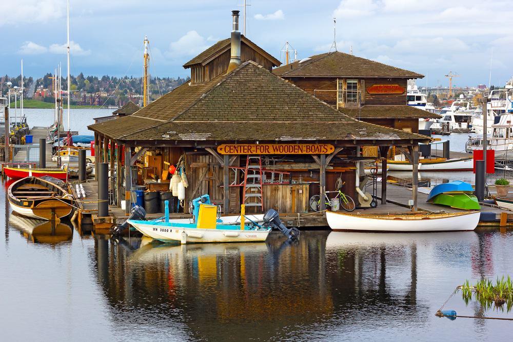 Centro de barcos de madera