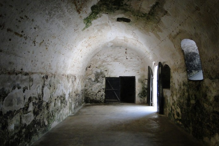 Interior of Slave Cells - St. George's Castle - Elmina - Ghana © Adam Jones