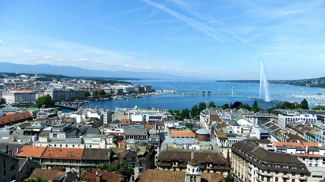 Geneva skyline | © James Cridland/Flickr