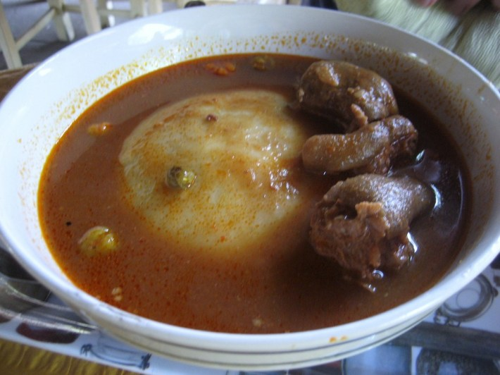 A bowl of Fufu © sharon mckellar / Flickr