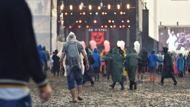 Only consolation of miserable weather is knowing it will f*ck up festivals