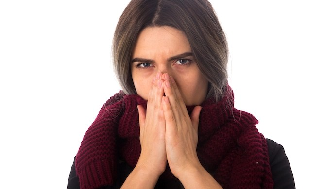 Colleague going around sneezing and touching things