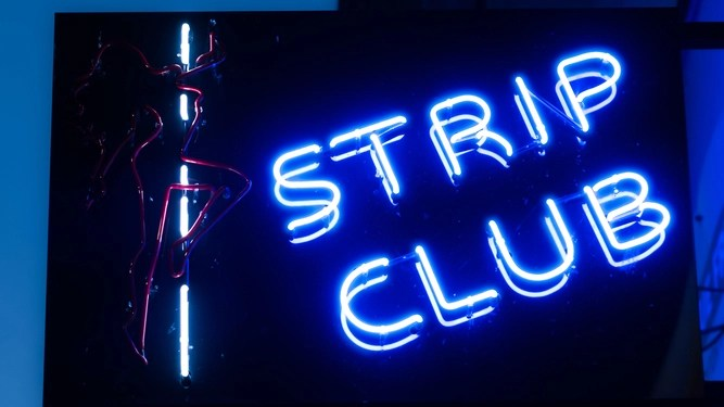 Progressive stag party goes to strip club for research