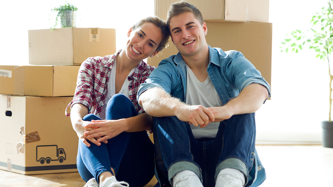 Couple decide to live together before breaking up