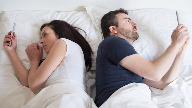 Married couple still not bored enough to have sex