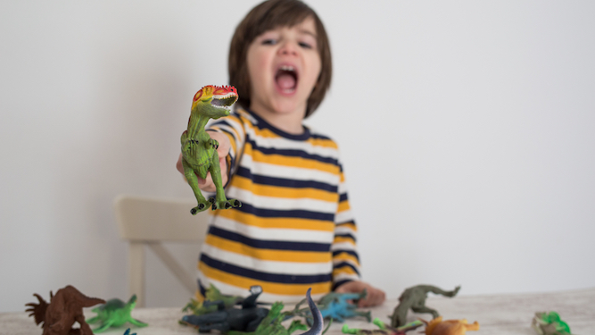 Chill the f**k out about dinosaurs, kids told