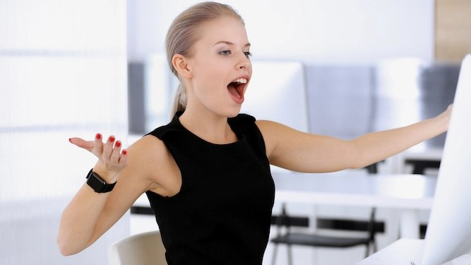 Woman whose work emails full of exclamation marks as dreadful as you'd expect