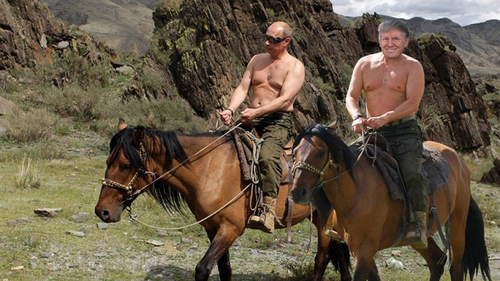 Image result for trump and putin without shirts